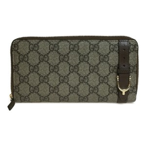 Gucci Auth Gucci GG Supreme 309758 PVC Long Wallet (bi-fold) Beige - item med img