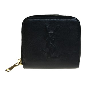 Saint Laurent Auth Yves Saint Laurent 352906 Leather Wallet (bi-fold) Black