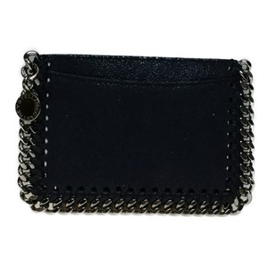 Stella McCartney Auth Stella McCartney 371371 Shaggy Deer Pass Case Leather Card Case Black