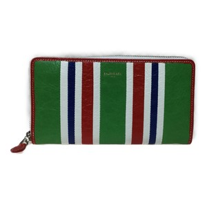 Balenciaga Auth Balenciaga 443655 Continental Bazaar Leather Long Wallet (bi-fold) Multi-color