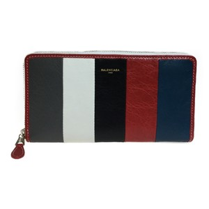 Balenciaga Auth Balenciaga 443655 Bazar Continental Leather Long Wallet (bi-fold) Multi-color