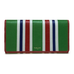 Balenciaga Auth Balenciaga 443654 Annie Bazaar Leather Long Wallet (bi-fold) Multi-color