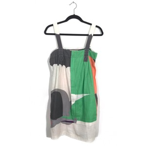 See by Chloé short dress white green pink gray on Tradesy
