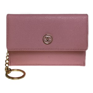 Chanel Chanel Coco Button A20908 Leather Coin Purse/coin Case Light Pink