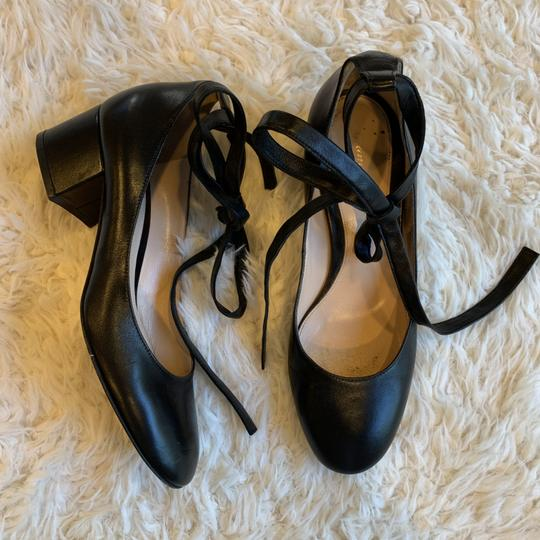 Gianvito Rossi Leather Ankle Wrap Work Classic Black Pumps Image 9