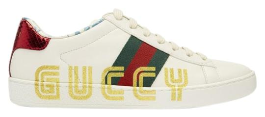 Preload https://img-static.tradesy.com/item/25864880/gucci-white-new-ace-leather-gold-glitter-flat-low-top-lace-up-sneakers-size-eu-41-approx-us-11-regul-0-1-540-540.jpg