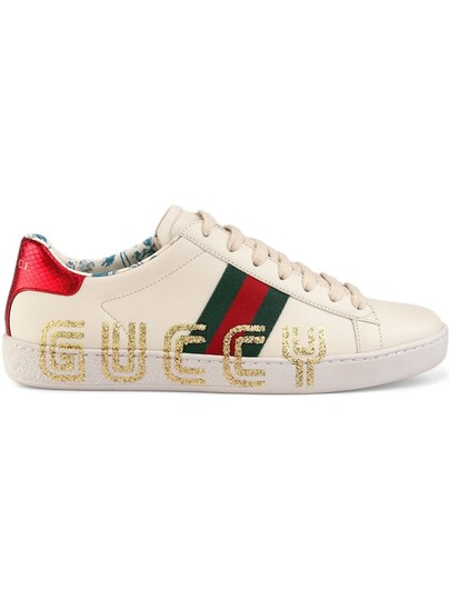 Gucci Loafer Mule Slide Flat Marmont white Athletic Image 3