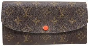 Louis Vuitton Brown Emilie Monogram Canvas Wallet