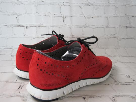 Cole Haan Suede Oxfords Laceup red Flats Image 1