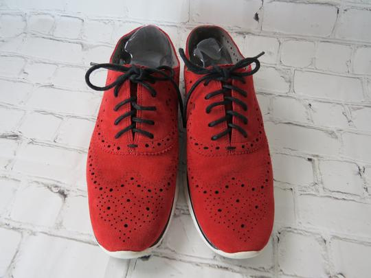 Cole Haan Suede Oxfords Laceup red Flats Image 2