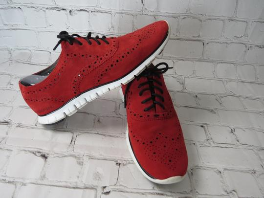 Cole Haan Suede Oxfords Laceup red Flats Image 3