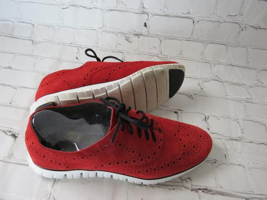 Cole Haan Suede Oxfords Laceup red Flats Image 4
