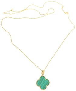 Van Cleef & Arpels Van Cleef & Arpels Yellow Gold Malachite Magic Alhambra Long Necklace