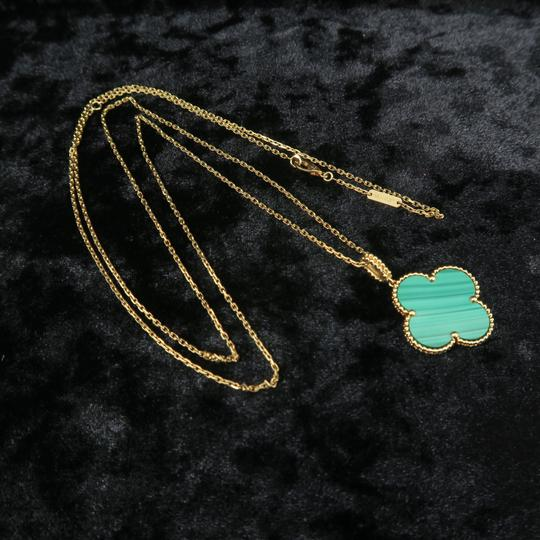Van Cleef & Arpels Van Cleef & Arpels Yellow Gold Malachite Magic Alhambra Long Necklace Image 2