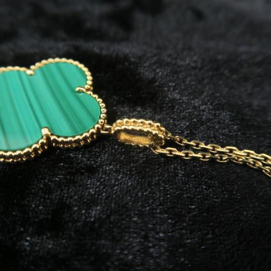 Van Cleef & Arpels Van Cleef & Arpels Yellow Gold Malachite Magic Alhambra Long Necklace Image 5