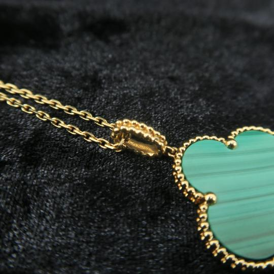 Van Cleef & Arpels Van Cleef & Arpels Yellow Gold Malachite Magic Alhambra Long Necklace Image 6