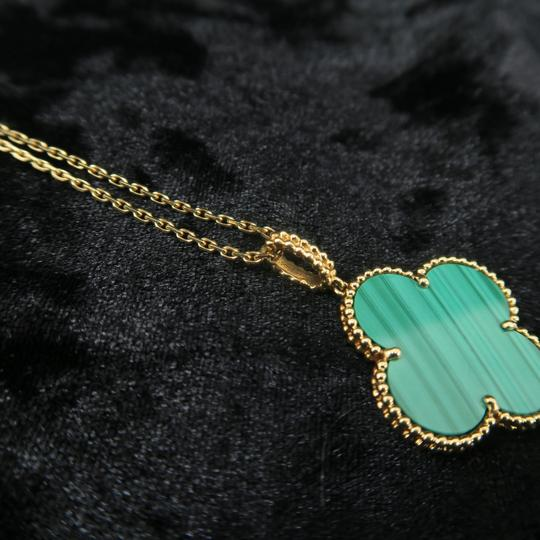 Van Cleef & Arpels Van Cleef & Arpels Yellow Gold Malachite Magic Alhambra Long Necklace Image 7