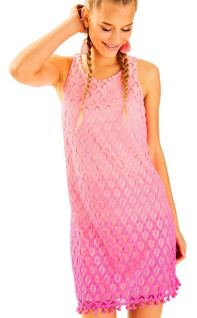 Item - Pink XS Marquette Shift Short Casual Dress Size 2 (XS)