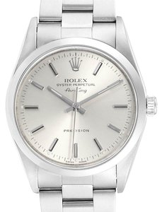 Rolex Rolex Air King 34 Silver Dial Oyster Bracelet Steel Mens Watch 14000