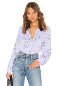 Equipment Floral Silk Top Purple