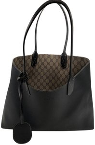 Gucci Reversible Tote in Black/Beige Ebony GG Leather