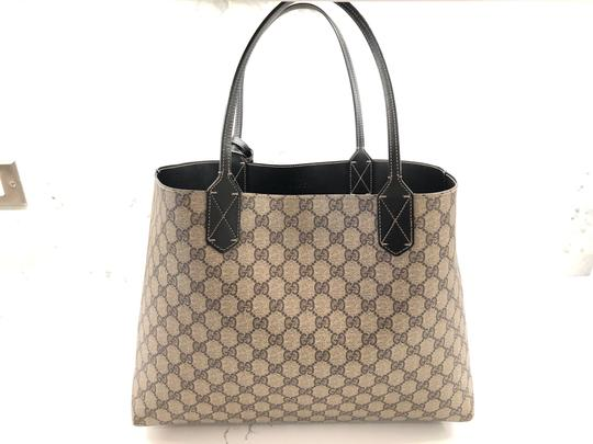 Gucci Reversible Tote in Black/Beige Ebony GG Leather Image 1