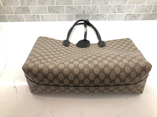 Gucci Reversible Tote in Black/Beige Ebony GG Leather Image 3
