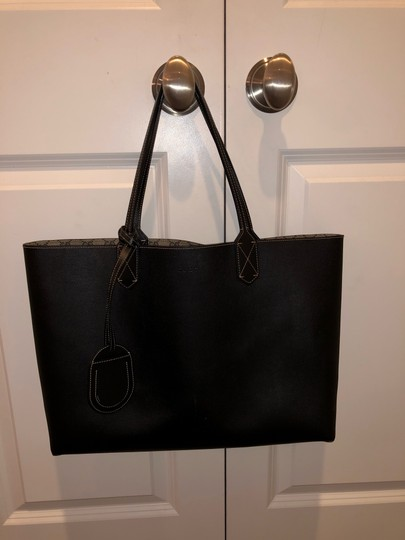 Gucci Reversible Tote in Black/Beige Ebony GG Leather Image 9