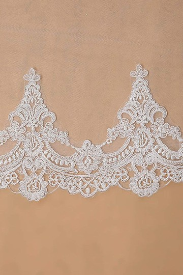 Champagne Long White Ivory Lace Edge Cathedral Length Veil+comb Bridal Veil Image 2