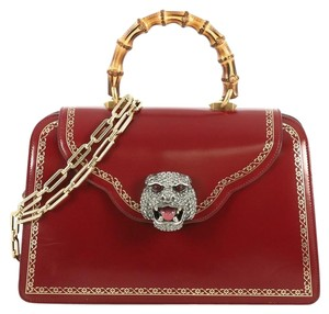 Gucci Thiara Top Handle Satchel in red