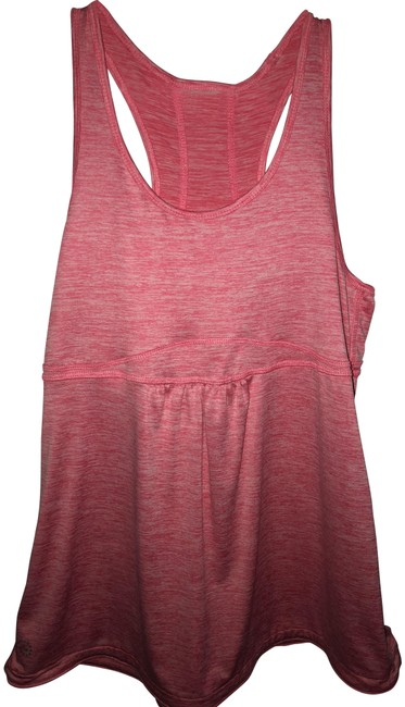 Item - Coral & White Blended Activewear Top Size 12 (L)