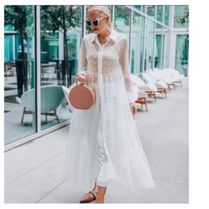 White Maxi Dress by Zara