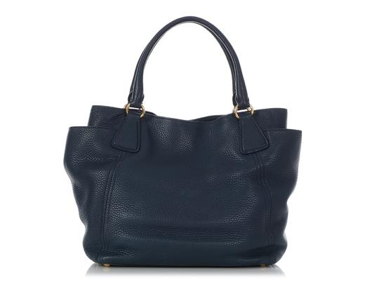 Prada Pr.q0614.14 Gold Hardware Navy Tote in Blue Image 3