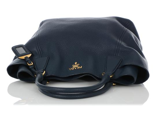 Prada Pr.q0614.14 Gold Hardware Navy Tote in Blue Image 6