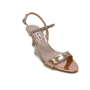 Miu Miu Rose Gold Sandals