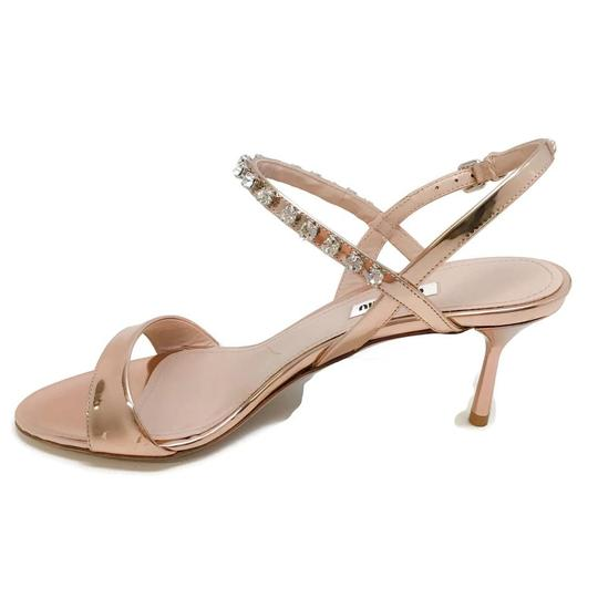 Miu Miu Rose Gold Sandals Image 1