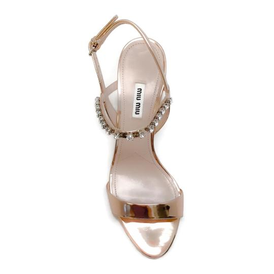 Miu Miu Rose Gold Sandals Image 3