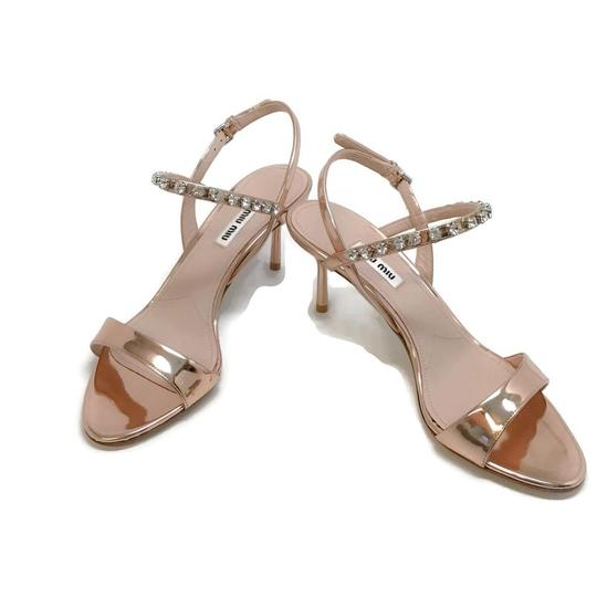 Miu Miu Rose Gold Sandals Image 5