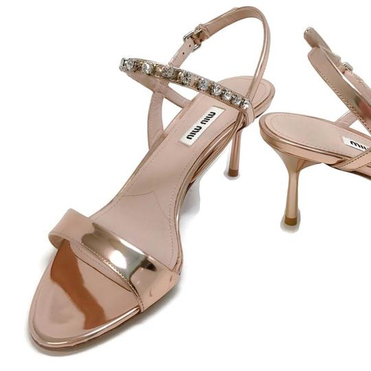 Miu Miu Rose Gold Sandals Image 6