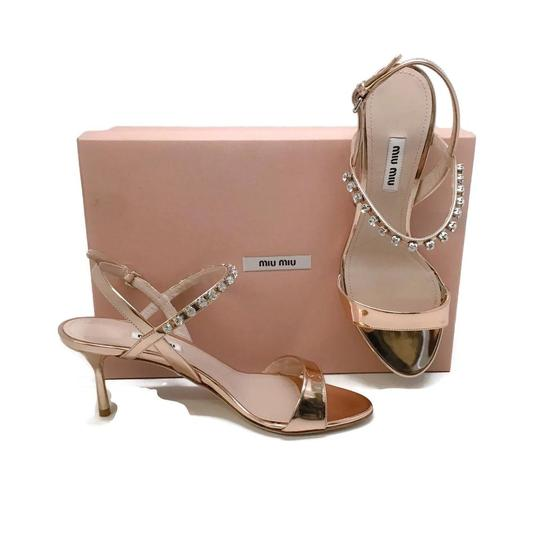 Miu Miu Rose Gold Sandals Image 8