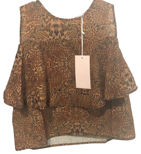 Item - Brown Blouse Size 4 (S)