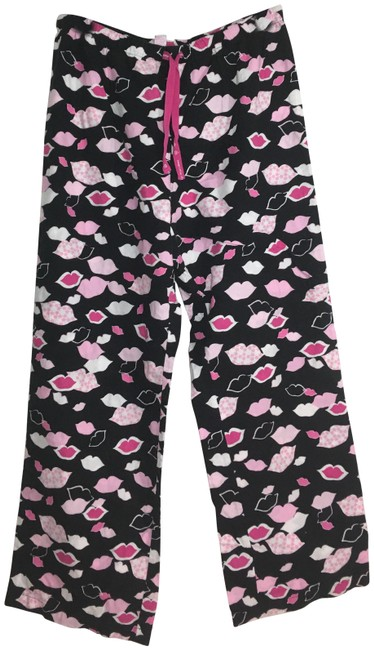 Item - Black Lips Pajama Tie Waist Cotton Pink Pants Size 8 (M, 29, 30)