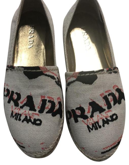Item - Cream Espadrille Flats Size US 5.5 Regular (M, B)
