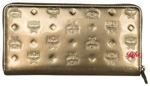 MCM New Wallet embossed patent leather