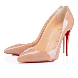 Christian Louboutin Pigalle Follies nude patent Pumps