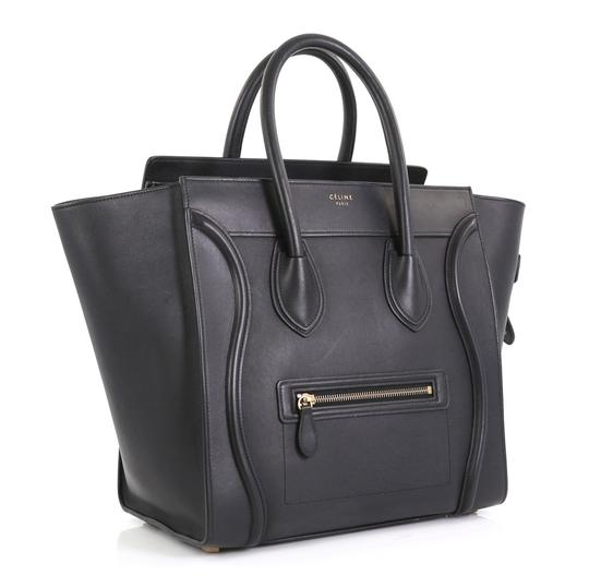 Céline Luggage Smooth Leather Satchel in black Image 1
