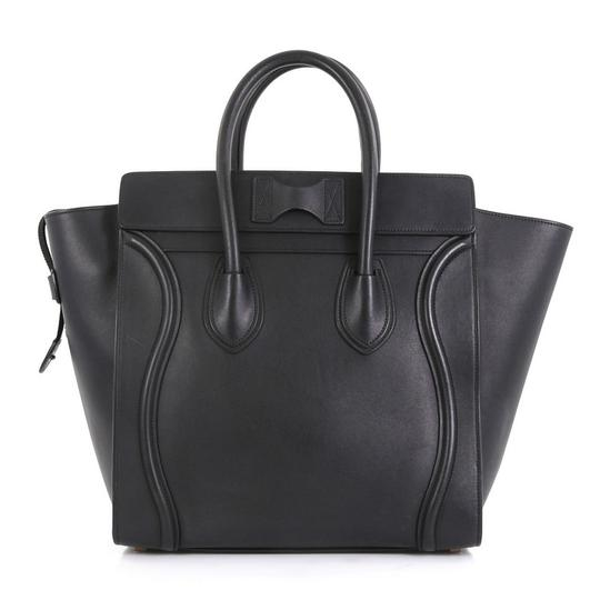 Céline Luggage Smooth Leather Satchel in black Image 2