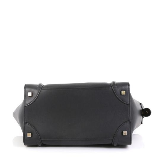 Céline Luggage Smooth Leather Satchel in black Image 3