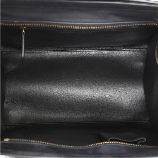 Céline Luggage Smooth Leather Satchel in black Image 4
