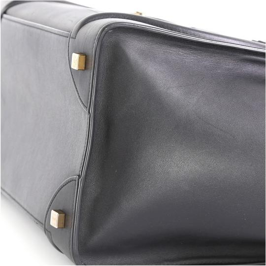 Céline Luggage Smooth Leather Satchel in black Image 5